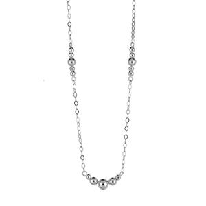1001 Bijoux - Collier argent rhodié chaînette et boules dégradées longueur 41,5cm pas cher