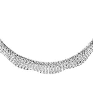 1001 Bijoux - Collier argent rhodié omega motif 41cm pas cher