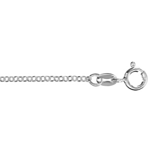 Image of Collier argent forçat ronde 40cm