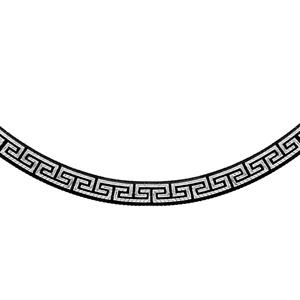 1001 Bijoux - Collier argent rhodié motif grec traitement noir 42cm pas cher