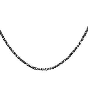 Image of Collier argent maille twist traitement noir 42cm