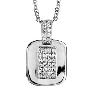 1001 Bijoux - Collier argent rhodié forme ceinture oxydes blancs sertis 40+4cm pas cher