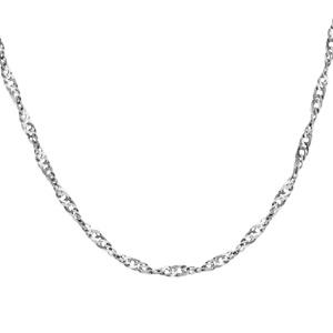 1001 Bijoux - Collier argent maille vrillée 75cm pas cher