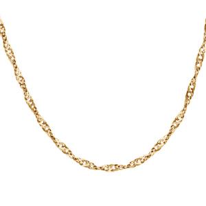 1001 Bijoux - Collier argent maille vrillée dorure jaune 75cm pas cher