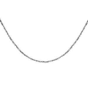 1001 Bijoux - Collier argent rhodié maille margherita 40+4cm pas cher