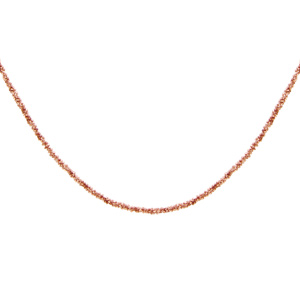 1001 Bijoux - Collier argent et dorure rose maille margherita 40+4cm pas cher