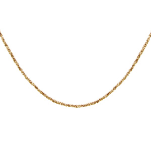Image of Collier argent et dorure jaune maille margherita 40+4cm