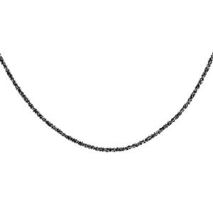 Image of Collier argent et rhodium noir maille margherita 40+4cm