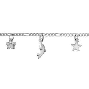 Image of Bracelet alternée pampilles argent
