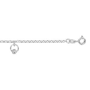 1001 Bijoux - Chaîne cheville argent rhodié 3 pampilles anneaux avec boules 20+4cm pas cher
