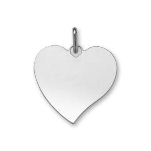 1001 Bijoux - Pendentif argent coeur très grand modèle 33*36 pas cher