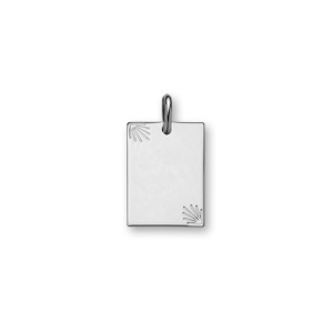 1001 Bijoux - Pendentif argent plaque étoilée diamantée petit modèle 16*21 pas cher