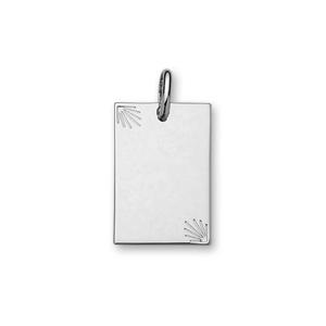 1001 Bijoux - Pendentif argent plaque étoilée diamantée moyen modèle 20*30 pas cher