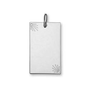 1001 Bijoux - Pendentif argent plaque étoilée diamantée grand modèle 23*38 pas cher