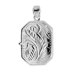 1001 Bijoux - Pendentif cassolette Rectangle en argent - petit modèle pas cher
