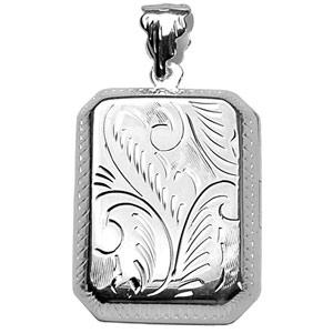 1001 Bijoux - Pendentif cassolette Rectangle en argent - grand modèle pas cher