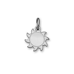 1001 Bijoux - Pendentif argent forme soleil petit modèle diamètre 16mm pas cher