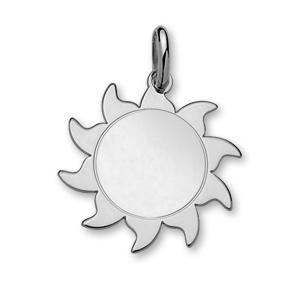 1001 Bijoux - Pendentif argent forme soleil moyen modèle diamètre 30mm pas cher