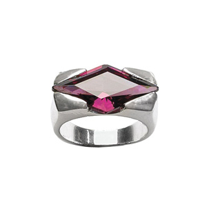 Image of Bague pierre losange violet