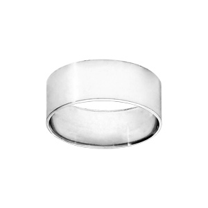 Alliance Ruban en argent 8mm