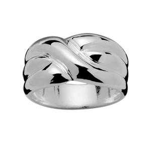 1001 Bijoux - Bague argent 3 anneaux croises pas cher