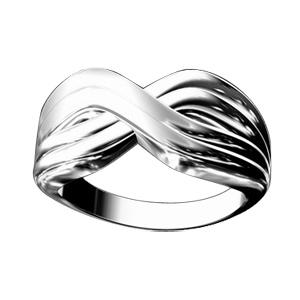 1001 Bijoux - Bague argent croisée et anneaux striés pas cher