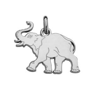 Image of Pendentif enfant elephant argent rhodié