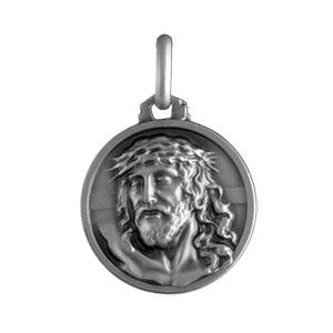Médaille Argent christ 16mm