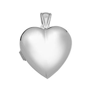 1001 Bijoux - Pendentif argent rhodié cassollette forme coeur lisse pas cher