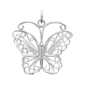 1001 Bijoux - Pendentif argent papillon filigrane pas cher