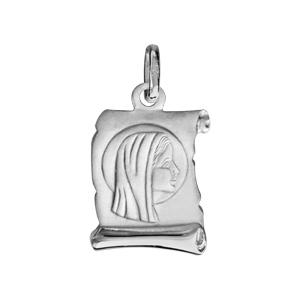 1001 Bijoux - Pendentif argent rhodié petit parchemin vierge pas cher