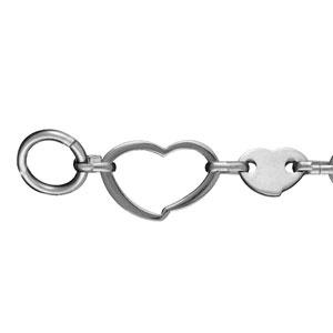 Bracelet Acier coeurs fermoir barette