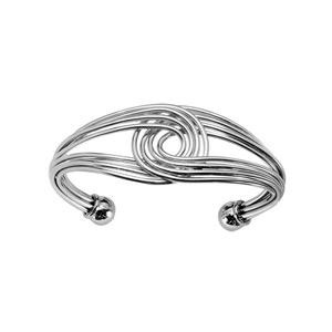 1001 Bijoux - Bracelet acier rigide multi fils entrelacé pas cher