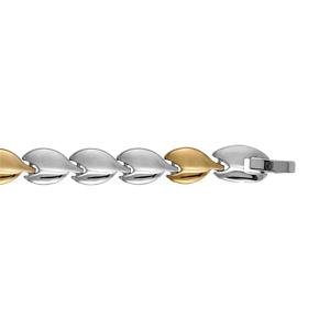 Bracelet Acier avec pvd jaune 19cm