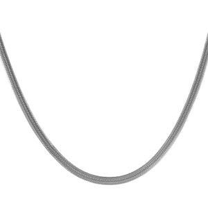 1001 Bijoux - Chaine acier maille serpent 4mm en 40cm pas cher