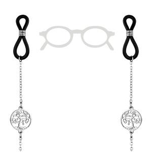 Chaîne de lunette chaîne avec motif arbre de vie 69cm