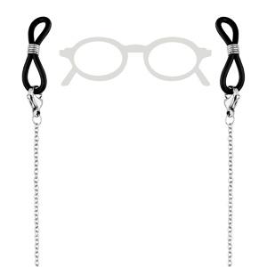 Chaîne de lunette chaîne avec motif papillon et perle blanche 69cm
