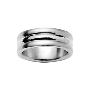 Alliance En acier 3 anneaux alternés 1 brillant et 2 satinés