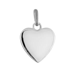 Pendentif Acier coeur lisse 11mm