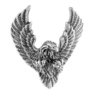 Pendentif acier tête aigle