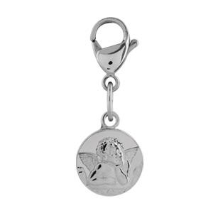 Pendentif Acier charm's medaille ange