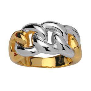 Bague Bicolore anneaux tressés