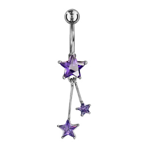 Piercing Nombril etoile violet