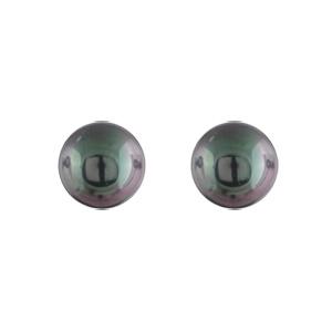 Boucles D'oreilles en acier perle synthétique noire de 6mm et fermoir tige à poussette