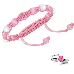 Parure Enfant argent bague et bracelet
