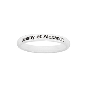 Alliance Demi-Jonc en céramique blanche 3mm