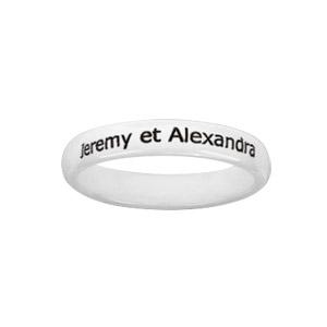 Alliance Demi-Jonc en céramique blanche 4mm