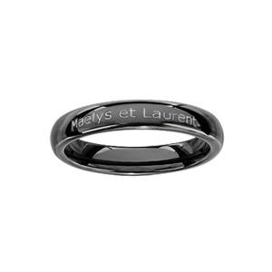 Alliance Demi-Jonc en céramique noire 4mm