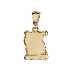 1001 Bijoux - Pendentif Parchemin vermeil à graver - petit modèle pas cher