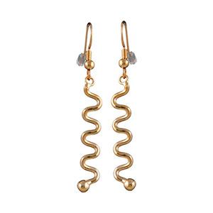 Boucles D'oreille plaqué or pendant serpentin